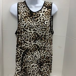 Violet + Claire Leopard top sleeveless size Large